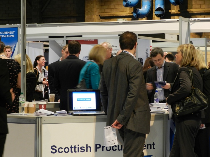 A packed house for the Scottish Government's interactive procurement knowledge centres at Procurex Scotland 2012