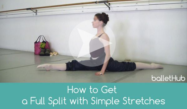How to Quickly and Safely Get Splits for Ballet | From BalletHub.com #ballet