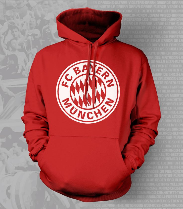Show your passion and stay warm with this beautiful Bayern Munich Hoody/Sweatshirt. - Gildan Heavy Blend - Classic Fit Hooded Sweatshirt - 50% Cotton / 50% Polyester - Air Jet Yarn = Softer Feel and r