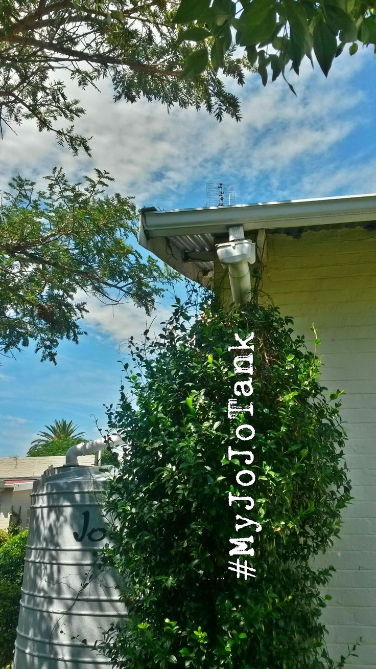 """You can see from #MyJoJoTank installation that you don't need """"special"""" gutters to install a rainwater harvesting tank. Most gutters will work just fine.  For newer homes, it becomes problematic to install a rainwater harvesting system when the gutters are hidden inside the wall. That's why you need to make sure your architect knows that saving water with rainwater harvesting is important to you!  #Rainwaterharvesting #Architecture #Sustainability #SmartLiving"""