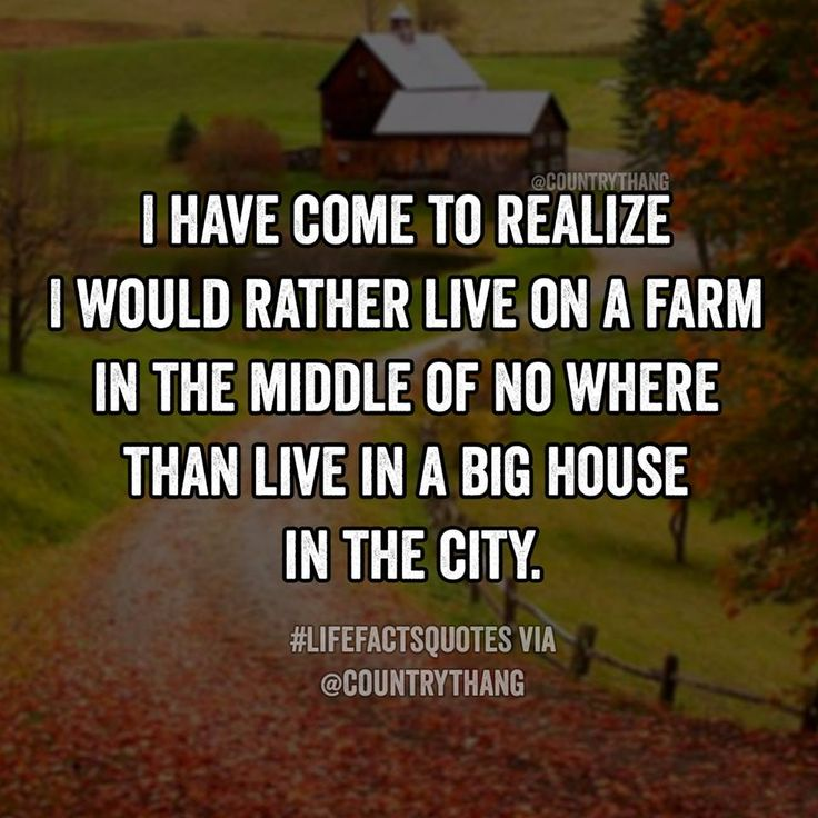 I Have Come To Realize I Would Rather Live On A Farm In