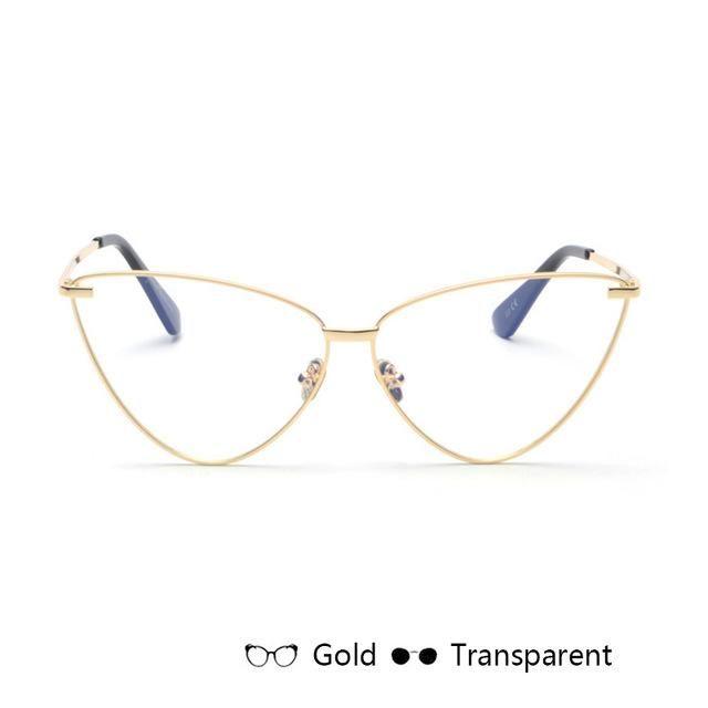 bf964af07a2fd 2018 Fashion Cat Eye Women Sunglasses Metal Glasses Legs - UV400 ...