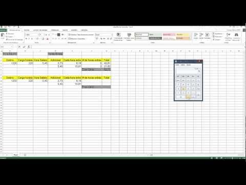 Hora salário, Horas extras e DSR no Excel