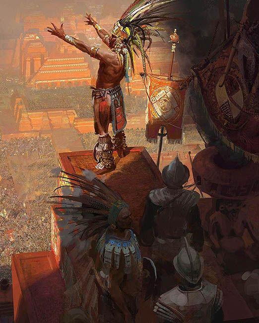 Montezuma fue el líder de las Aztecas que Hernando derroto.