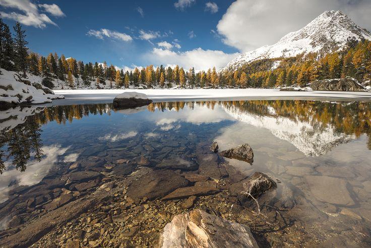 Lago Saoseo 1985m slm - Riflessi autunnali al Lago Saoseo che si prepara alla stagione invernale.