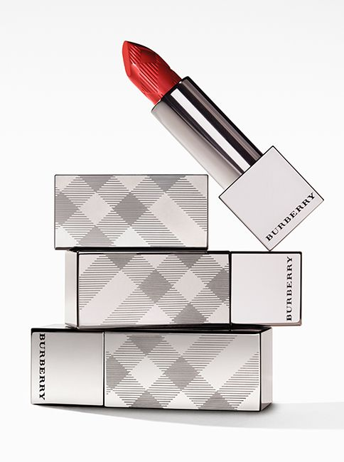 Burberry Kisses lip colour in Military Red No.109, designed to intensify with each application