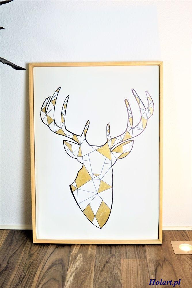 DIY: geometryczny obraz