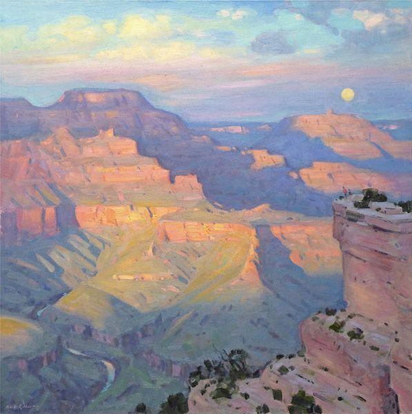 Robert Goldman, Sunset Interlude, oil, 24 x 24.