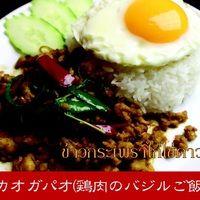カオガパオ(鶏肉のバジルご飯)