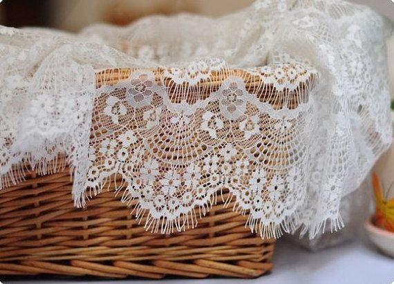 white lace fabric, retro lace fabric, eyelash design lace, vintage lace fabric, grace curtain fabric on Etsy, $9.99