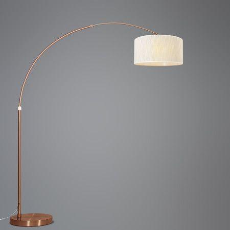 bogenlampe xxl kupfer mit schirm hell braun marmoriert leuchten f r den herbst pinterest. Black Bedroom Furniture Sets. Home Design Ideas