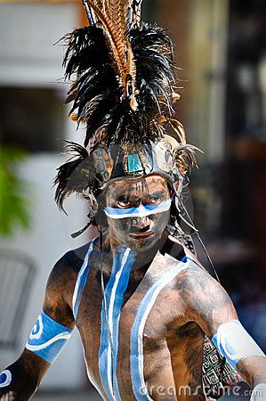 Guerrero maya antiguo Imagen editorial