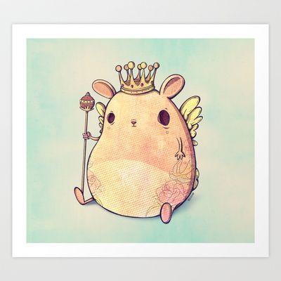 Prince Angel of Bunnyland Art Print by Mike Koubou - $18.00