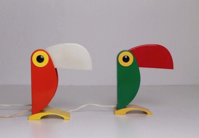 Toucan Tucan Parrot Ferrari Oldtimer Sixties Memphis