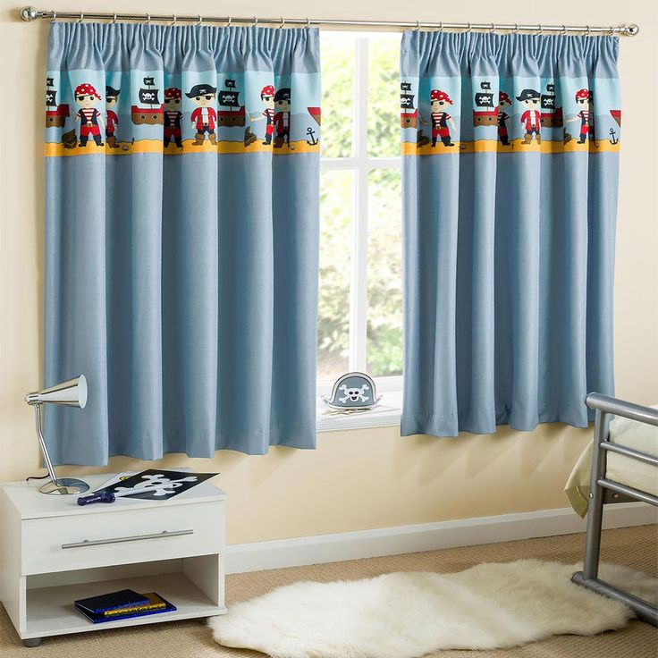 Curtains - Pirate Blackout Blue