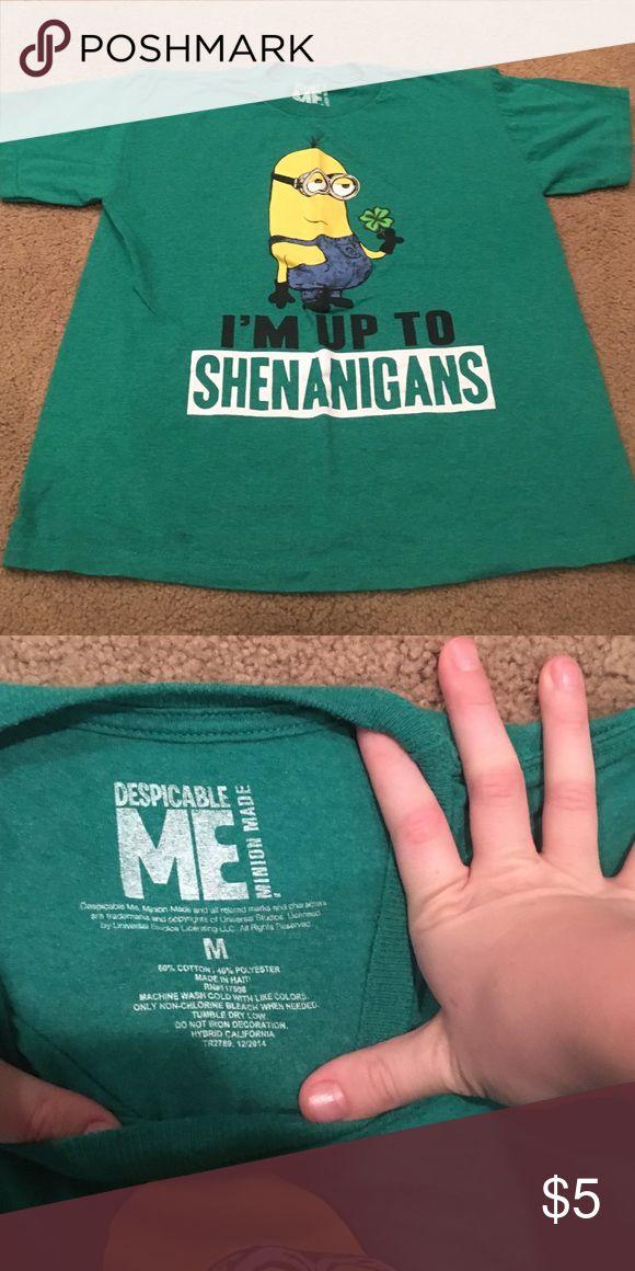 Boys Minion Shirt Sz M Minion T-shirt Tops Tees - Short Sleeve