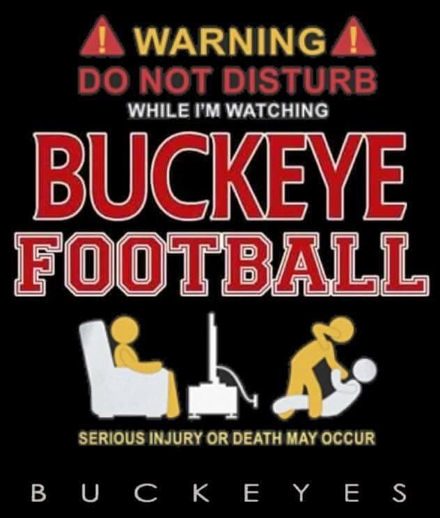 Haha. This is so my Dad. Nothing gets between him and his OSU football