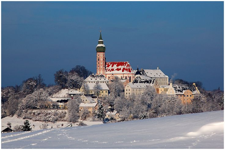 Kloster Andechs in the Winter.