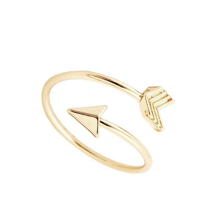 A cute arrow ring perfect for everyday. Yellow gold vermeil available now.  www.fabza.com