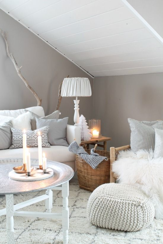Cozy, white attic space.