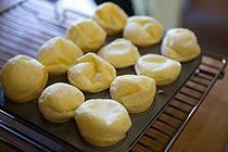 Brazilian cheese bread. My kids LOVE them.
