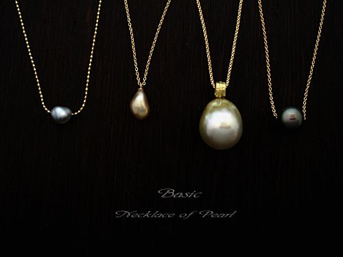 [Pearl Collection : 049] Pendant-K18YG/Pearl