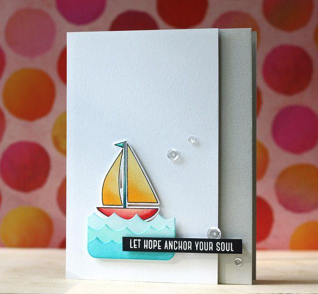 Sail Away stamp set, Set Sail & Splashy Waves: SSS, L. Bassen, nautical, summer