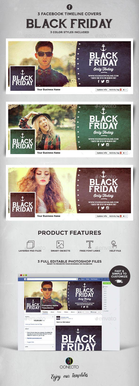 Retro Facebook Covers - Black Friday