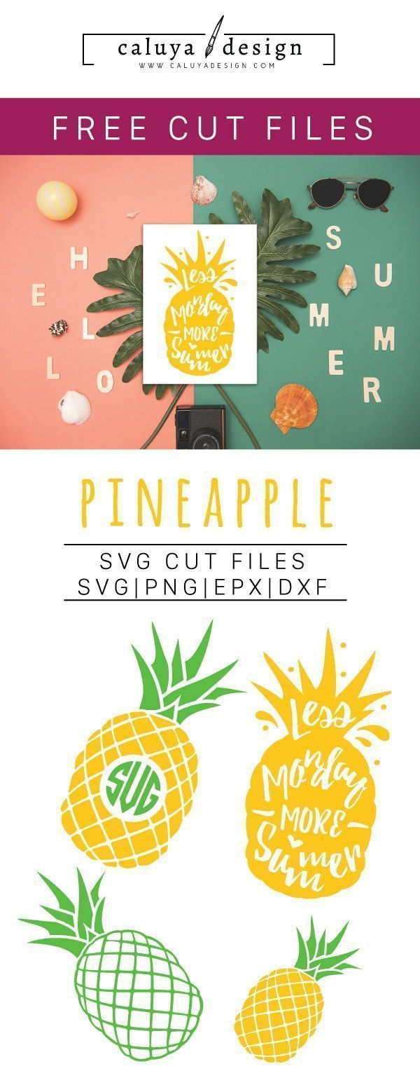 Free Pineapple SVG, PNG, EPS & DXF by Cricut monogram