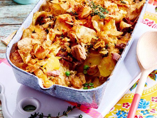 Unser beliebtes Rezept für Kartoffel-Thunfisch-Auflauf mit Chipskruste und mehr als 55.000 weitere kostenlose Rezepte auf LECKER.de.