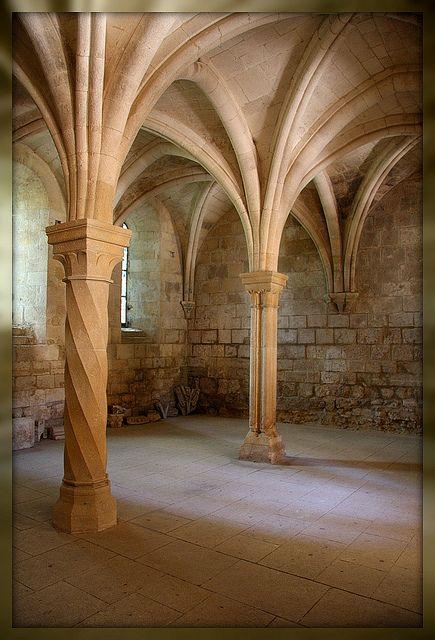 Abbaye cisterciennes de Silvacane. La salle capitulaire. Bouches-du-Rhône