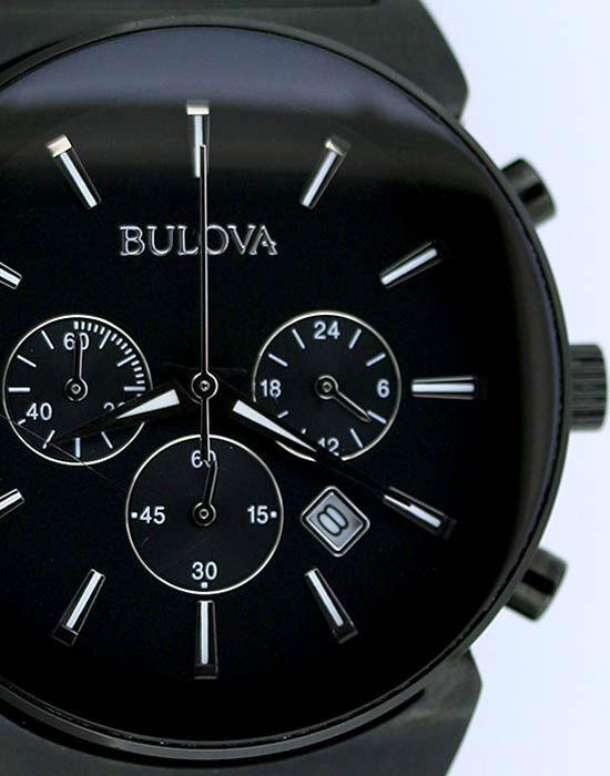 Bulova Black Chronograph Watch