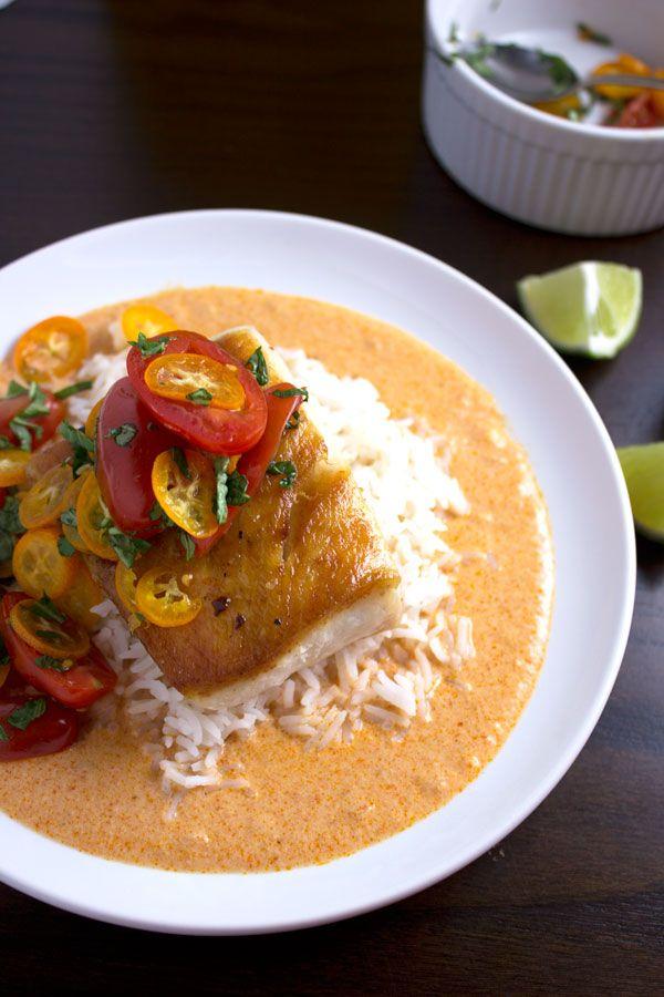 Pan seared cobia fish tomatoes kumquat salad thai for Cobia fish recipes