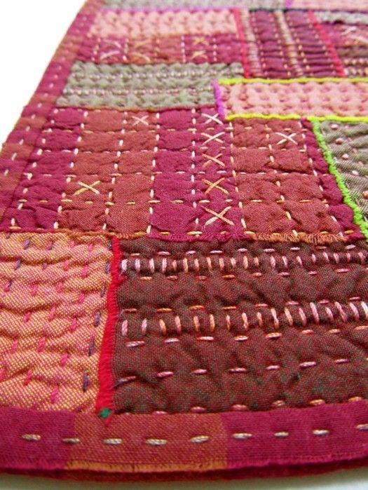 decorative big stitch quilting