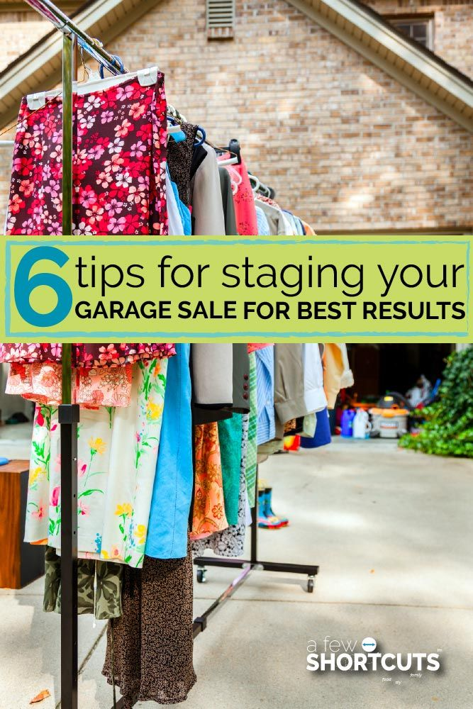 Are you ready to have your best garage sale ever? Consider these 6 tips for staging your garage sale so you can create a visually pleasing display that guests are excited to shop at!