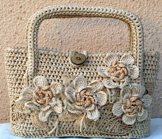 17 Bolsas Estilosas De Crochê (com imagens) | Bolsas de crochê, Padrões de mala, Padrões de bolsas de crochê