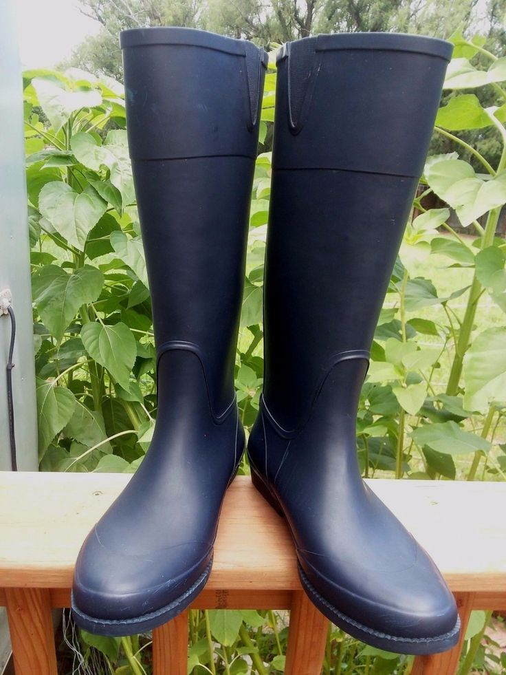Tommy Hilfiger CALIPSO Navy Blue Women's Rain Boot Faux Back Zipper-Size 10  | Clothing, Shoes & Accessories, Women's Shoes, Boots | eBay!