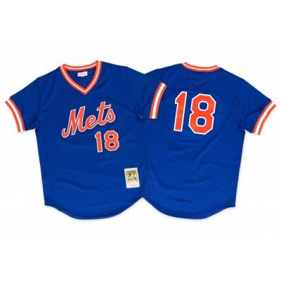 Darryl Strawberry 1986 Authentic Mesh BP Jersey New York Mets