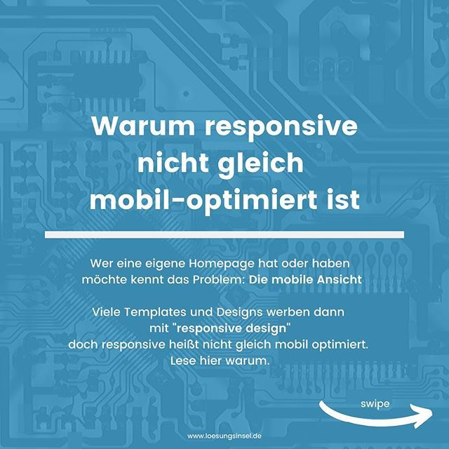 Viele Anbieter Werben Mit Dem Beliebten Wort Responsive Design Doch Responsive Bedeutet Nicht Immer Auch Mobil Optim Eigene Homepage Tipps Und Tricks Design