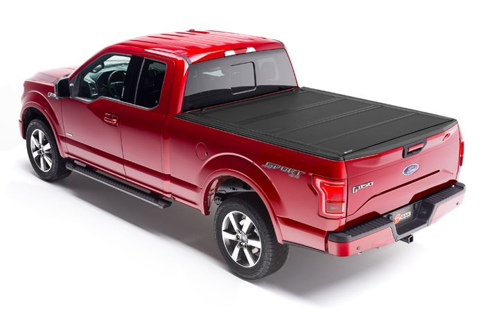 The BAKFlip MX4 model 48329 - If you are looking for a 2015-2017 Ford F-150  hard folding tonneau cover that literally does it all, the BAKFlip MX4 from  BAK Industries is it. From its sleek contemporary styling to its state of  the art function, the BAKFlip MX4 hard folding heavy-duty truck bed
