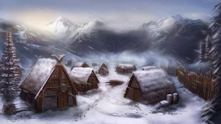 Winter village fantasy  Roleplaying Game Inspiration in