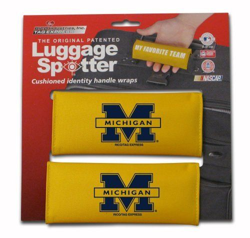 NCAA Michigan Wolverines Single Luggage Spotter by Rico. $9.10. Nylon handle wrap for cushion comfort with patented ID window sewn in place and enclosed by velcro