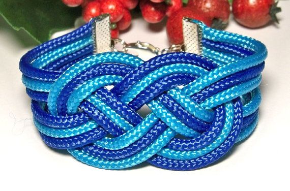 Bracelet corde nautique noeud marin noeud par HighestTideJewelry