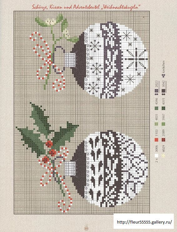 Christmas balls cross-stitch scheme #Christmas #embroidery #crossstitch