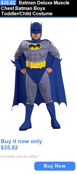 Halloween Costumes Kids: Batman Deluxe Muscle Chest Batman Boys Toddler/Child Costume BUY IT NOW ONLY: $35.82