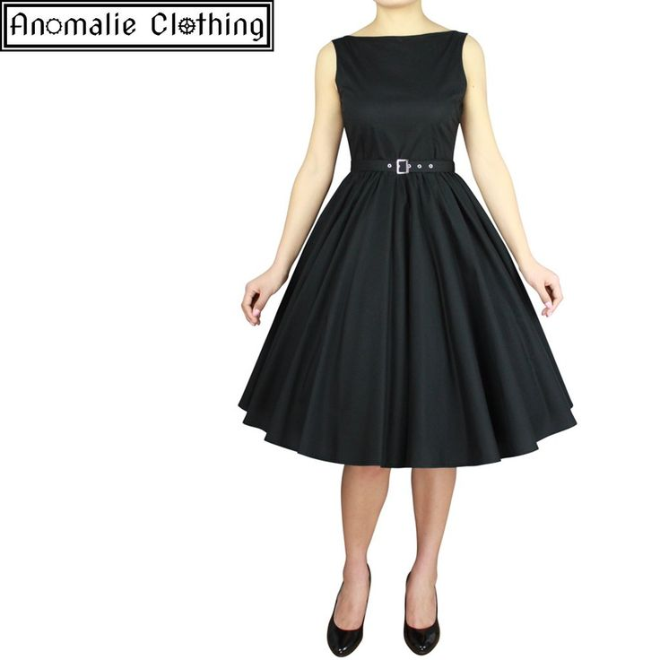 Chic Star - Sleeveless Belted Swing Dress In Black - Coming Soon!
