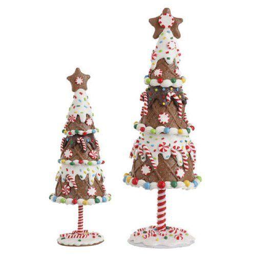 RAZ Imports - Multicolored Gingerbread Trees
