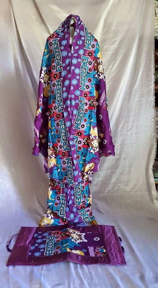grosir fashion mukena jilbab gamis: mukena katun anak caracter