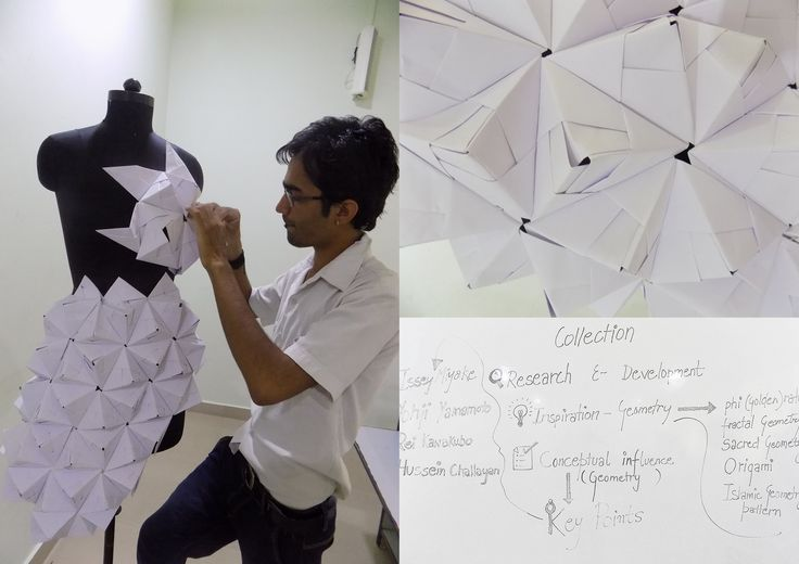 Working on collection inspired by geometry #technique : origami For more detail of my work plz visit  http://www.dezyneecole.com/ https://www.facebook.com/Akshay-sharma-216630771849567/