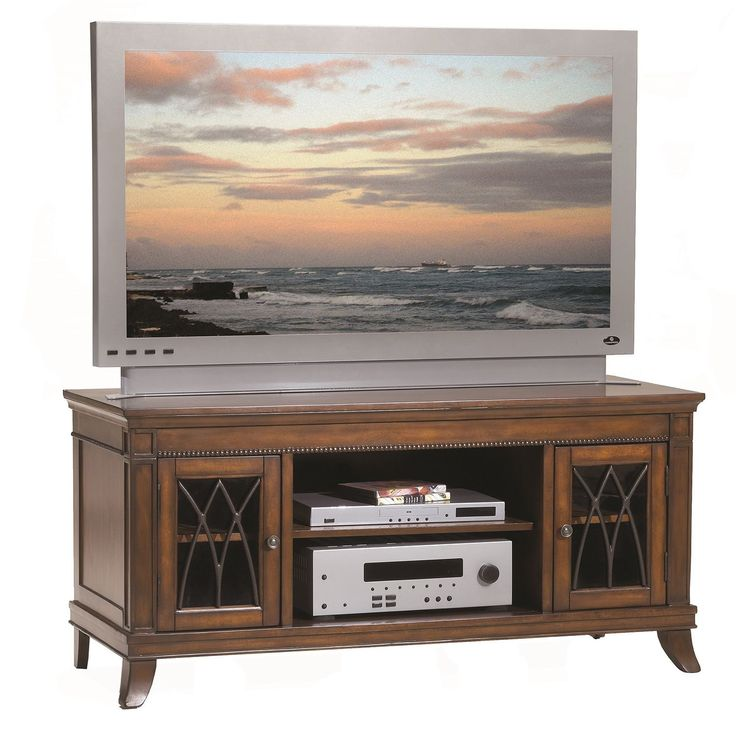 bernards cathedral tv stand 50 inch cherry tv stand brown